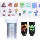 Halloween Holographic Starry Nail Foil Skull Manicure Transfer Sticker Tips