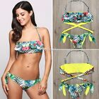 Women Swimwear Bandage Bikini Set Push-up Padded Bra Bathing Suit Swimsuit D801