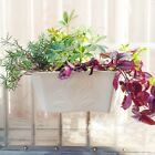 Plastic Wall Hanging Storage Hanging Garden Basket Plant Pots Decor With Tray