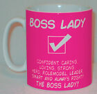 Boss Lady Mug Can Personalise Great Office Shop Work Manager Tea Cup Female Gift