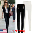 Fashion Women Stretch High Waist Pencil Pants Slim Skinny Leggings Trousers US