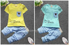 Toddler Kids Baby boys summer Outfits Clothes T-shirt & short Pants 2PCS HAPPY