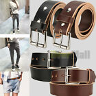 "2017 LEATHER WORK BELT_AMISH HANDMADE_GUN HOLSTER BELTS_MENS_1 1/2"" US SHIPPING"