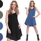 Glamour Empire. Women's Elastic Loose Fit Skater Sleeveless Midi Dress. 625