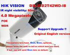 Hikvision English version DS-2CD2T42WD-I8 4MP IP camera CCTV security IP67 4/6mm