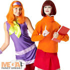 Daphne + Velma Scooby Doo Ladies Couple Costume Womens Halloween Fancy Dress New