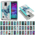 samsung note 4 accessories - For Samsung Galaxy Note 4 N910 AT&T Design Hybrid Shock Absorbent Cover Case