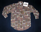 Men's Western Style 100% cotton long-sleeve button shirt 2 pocket New - S M L XL