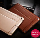"""Luxury Genuine Leather Case Smart Auto Sleep Stand Cover For iPad 2017 9.7"""" New"""