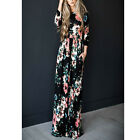 Women Floral Print Long Sleeve Beach Dress Lady Evening Party Long Maxi Dress US <br/> Women Floral Print Long BOHO Dress! USA Free Shipping!