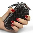 New Leather Auto Car Key Bag Pouch Remote Keychain Key Case Holder #C Multicolor