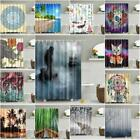US Waterproof Bathroom Shower Curtain Fabric Animal Printing Tree Landscape Hot