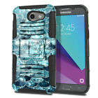 For Samsung Galaxy J3 Emerge J327 2017 2nd Gen Hybrid Armor Kickstand Case Cover