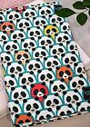 Spy Panda Mint 100% Cotton Fabric Colourful Animal Pandas Craft, Quilting ff004<