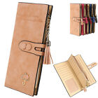 New Fashion Women Synthetic Leather Trifold Card Holder Long Wallet Clutch Purse