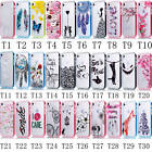 For Apple iPhone Hybrid Clear Background Colorful Patterns TPU+PC Top Case Cover