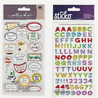 U CHOOSE  Sticko SCHOOL flat Stickers yearbook alphabet
