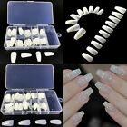 100pcs New  Nail Tips Full Nails Coffin Shape Natural Color Transparent