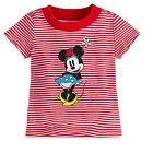 Disney Store Minnie Mouse Striped Tee Baby Girls Shirt Size 9 12 18 24 Months