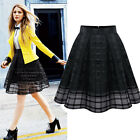 NEW Women Summer Organza Pleated Short Skirts Evening Party Cocktail S~XL