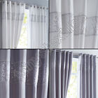 PAIR OF LUXURY SHIMMER SEQUIN FULLY LINED EYELET CURTAINS SILVER GREY WHITE NEW