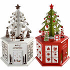Wooden Tree Advent Calendar Tower Christmas Decoration Red, White - 36cm
