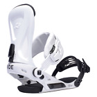 2017 NIB MENS RIDE REVOLT SNOWBOARD BINDINGS $240 White lightweight aluminum