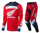 NEW 2017 TROY LEE DESIGNS SE AIR CORSA HONDA GEAR COMBO RED/WHITE/BLUE SIZE 30/M