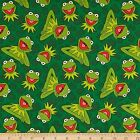 LICENSED KERMIT THE FROG MUPPETS KIDS SEWING CRAFT QUILT FABRIC Free Oz Post