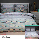 3 Pce Eve Grey Reversible Quilt Doona Duvet Cover Set by Apartmento QUEEN KING