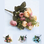 Artificial Bouquet Silk Fake Flower Tea Rose Bouquet for Wedding Home Decoration