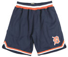 Mitchell and Ness Detroit Tigers Playoff Win Shorts Baseball Mesh MLB Navy Mens