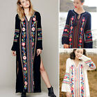 Vintage Women Mexican Embroidery Tunic Boho Gypsy Hippie Beach Maxi Long Dress