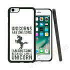 Black Unicorns Are Awesome Grip Gel Case Cover For All Top Mobile Phones