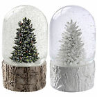 Christmas Tree Scene Musical Snow Globe Christmas Decoration White Green