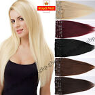Luxury Clip In 100% Remy Human Hair Extensions Thick Full Head 70-110g UK A333