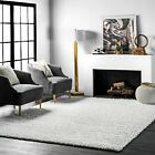 nuLOOM New Contemporary Modern Plush Shag Area Rug in Solid Soft White фото