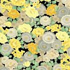 MANDALAY BREEZE YELLOW ORIENTAL FLORAL ANDOVER QUILT SEWING FABRIC Free Oz Post
