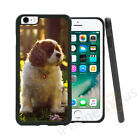 Brown King Charles Spaniel Grip Side Gel Case Cover For All Top Mobile Phones