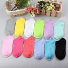 10Pairs/Pack Women Low Cut Cotton Socks Fashion Boat Ankle Socks Mixed Color NEW