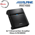 Alpine PMX-T320 - 2/1 Channel Class A/B Car Amplifier 320W Speaker or Bass Amp