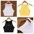 Irregular Fashion Women Halter Sleeveless Vest Crop Top camisole Tank top Shirt