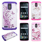 For LG Stylo 3 HYBRID IMPACT Dazzling Diamond Layered Case Cover + Screen Guard