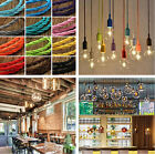 1/5M Colorful Twist Braided Fabric Cable Wire 2 Core Electric Light Lamp Vintage