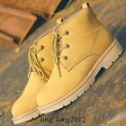 New Outdoor Mens Lace Up Military Leather High Top Shoes Cargo Ankle Desert Boot