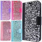 For Samsung Galaxy J3 Emerge Premium Bling Diamond Wallet Case Flip Pouch Cover