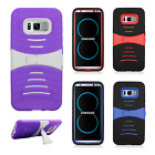 Samsung Galaxy S8 / S8 PLUS Hard Gel Rubber KICKSTAND Case Phone Cover Accessory