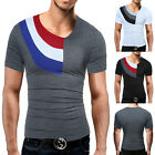 Fashion Mens T Shirt Slim Fit Crew Neck Short Sleeve Muscle Casual Tops T-Shirt