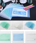 A5 Clear Strong Zip Seal Document Storage Wallets Bags Waterproof Quality Eco