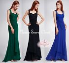 CLAIRE Various Colours Lace Full Length Prom Evening Bridesmaid Dress UK 8 - 20